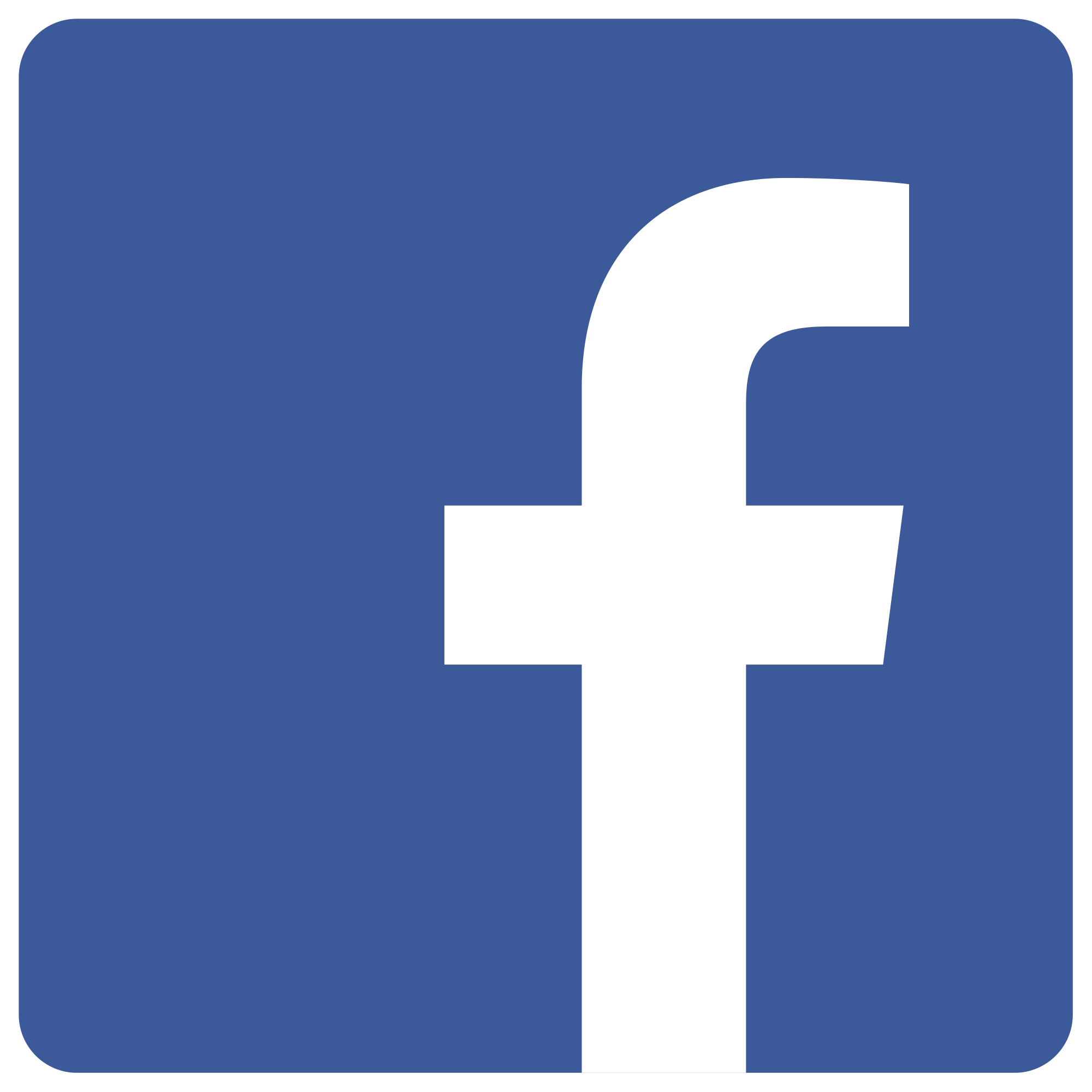 facebook blue logo in transparent background