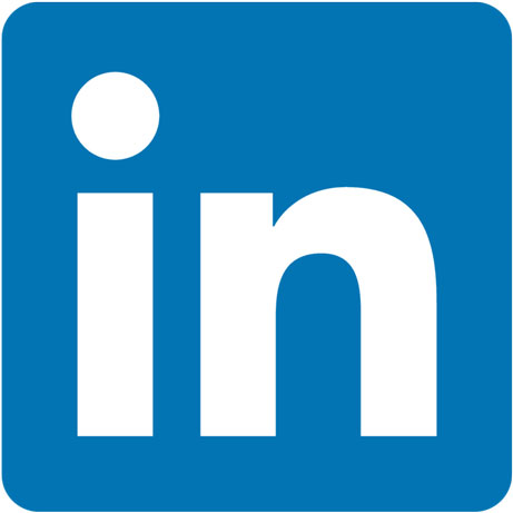linkedin blue logo in transparent background